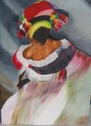 tableau personnages danse samba fete mouvement : brazilia