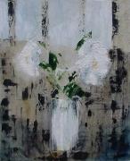 tableau fleurs bouquet fleurs blanches decomposition abstrait : Abstraction II