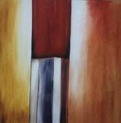 tableau abstrait tube clef passage : La Serrure