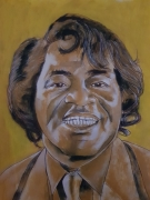 tableau personnages james brown peinture chanteur : james brown