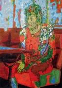 tableau personnages vieillesse femme bar solitude : Maria