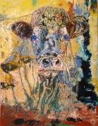 tableau animaux vache animal regard serenite : Georgette
