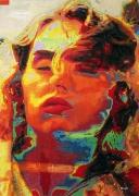tableau personnages femme visage deformation publicite : Miss Royco
