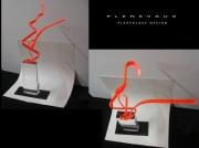 tableau plexiglass sculpture minimale plastic : Flying Orange