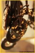 bijoux autres collier pendentif or argent : Colliers Cristallium noir et or/argent