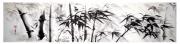 tableau autres bambous peinture chinoise panorama sumie : Forêt de bambous