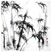 tableau autres bambous sumie encre de chine japon : Bambous