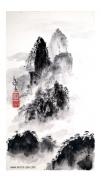tableau paysages sumie zen montagnes huang shan : Monts célestes