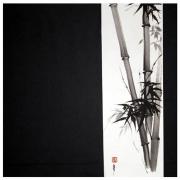 tableau autres bambous zen sumie peinture chinoise : bambous B&W