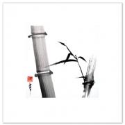 tableau autres bambou sumie zen peinture chinoise : carré zen bambou