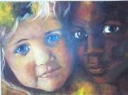 tableau personnages enfant : multicolore