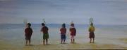 tableau personnages enfant ,a la peche : a la pêche