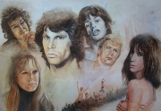tableau personnages portrait chanteur rock and roll : rock and roll