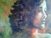 tableau personnages portrait femme : profil