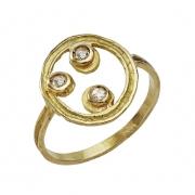 jewelry abstrait or diamant bague anniversaire : bague celeste triple