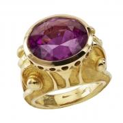 bijoux abstrait tourmaline bague etrsque or : bague étrusque