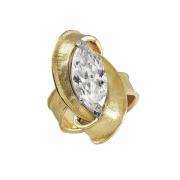 bijoux abstrait or diamant bague fiancaille : bague moebius daimant