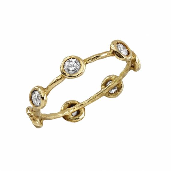 BIJOUX alliance or diamant mariage Abstrait  - alliancede la semaine diamants