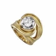 bijoux abstrait bague or diamant fiancaille : bague tornade or et diamant