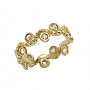jewelry abstrait or alliance diamant mariage : Alliance ondine 12 diamants