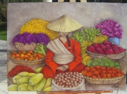 tableau femme asie chine marche : Vendeuse Pékinoise