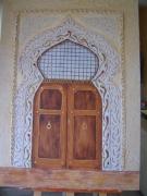 tableau architecture orient iran porte relief : La porte