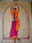 tableau personnages femme asie inde danse : La danseuse