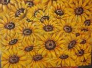 tableau fleurs fleur jaune tournesol : SOLEILS
