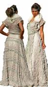 art textile mode kaftan morrocan dress caftan : caftan vert en dentelle