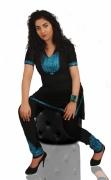 art textile mode autres jabador lin broderie bleu ciel : jabador en lin noir brodé