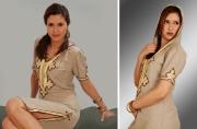 art textile mode autres djallaba lin beige maroc : djellaba en lin beige