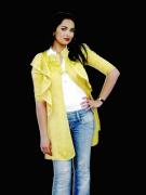 art textile mode autres trench jaune brocard maroc : trench jaune en brocard