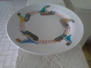 ceramique verre marine : Des assiettes peintes aux motifs marins
