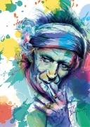 art numerique personnages rolling stones keith richards rock : Keith Richards