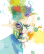 art numerique personnages samuel beckett en attendant godot dublin irlande : Samuel Beckett