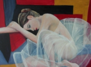tableau personnages peinture danseuse tutu acrylique : danseuse