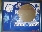 tableau autres miroir tissus crealuc contemorain : Annet