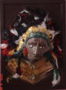 tableau personnages indien relief crealuc deco : indien