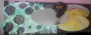 tableau scene de genre roses miroir desert abstrait : les roses