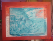 tableau abstrait ocean crealuc le souffle : le souffle