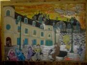 tableau architecture chateau renaissance leonard de vinci personnages : Le chateau