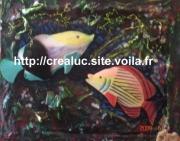 mixte marine poisson aquarium mosaique deco : aquarium4