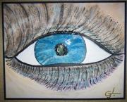 tableau abstrait oeil abstrait eyes : mon oeil