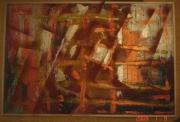 tableau abstrait abstrait decoration or automne : automne