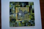 ceramique verre animaux animaux assiette zebre : assiette zèbre