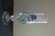 ceramique verre fleurs verre cristal pensees cadeau : verre en cristal