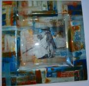 ceramique verre personnages cadeau assiette enfant : assiette bisous d'enfant