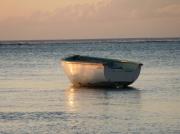 photo marine barque bateau mer : barque filet orange