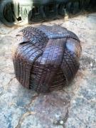 artisanat dart autres afrique ethnique recyclage : POUF
