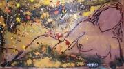 tableau nus nus acrylique abstrait : #1